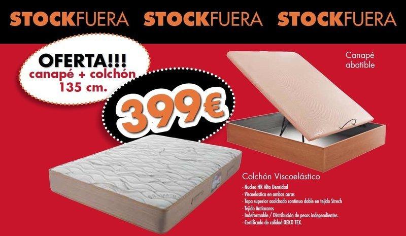 Pack Colchón Confort-Visco + Canapé