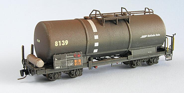Rhätische Bahn Kesselwagen Uah / Za 8131 bis Za 8140 Bausatz.