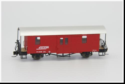 Rhätische Bahn Gepäckwagen D² 4038 Bausatz.