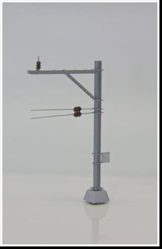 Doppelausleger, ohne Isolatoren, 1 Stück, Bausatz