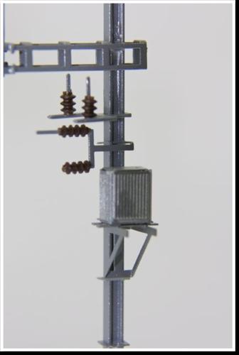 Masttransformator, ohne Isolatoren, 1 Stück, Bausatz.  (Sommerfeldt kompatibel)