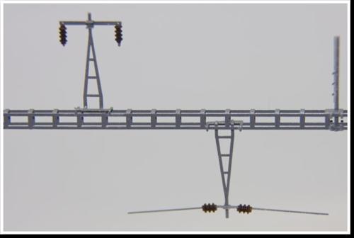 Haupthängestütze / Aufsatz am Querträger, ohne Isolatoren, 2 Stück, Bausatz