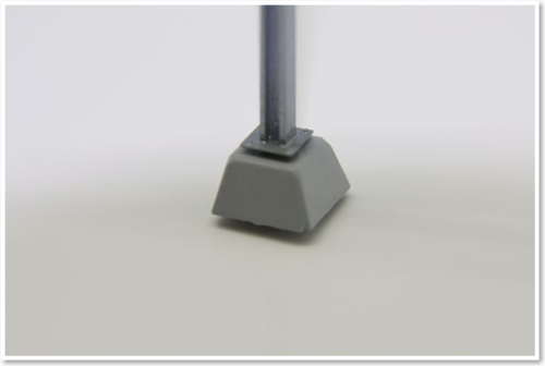 Beton-Sockels, konische Ausführung, 10 Stück, Bausatz.  (Sommerfeldt kompatibel)