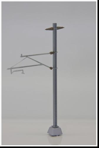 langer Ausleger mit Halteseil / Rohrausleger, 2 Stück, Bausatz