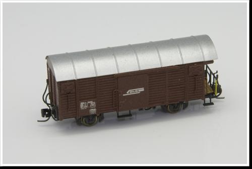 Rhätische Bahn Güterwagen Gbk-v 5502 / 5503 Bausatz.