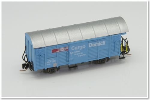 Rhätische Bahn Güterwagen Gbk-v  5504/5515/5526 (Cargo Domicil beschriftung) Bausatz.