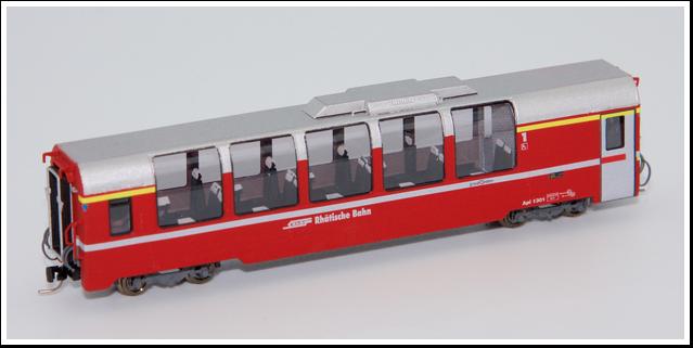Rhätische Bahn Panoramawagen Api 1301 - 1303 Bausatz.