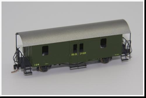 Rhätische Bahn Gepäckwagen D² 4041 Bausatz.