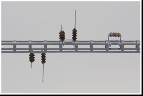 Halter für Tragseil, zur Verwendung auf dem Quertragwerk, 10 Stück, Bausatz (Sommerfeldt kompatibel)