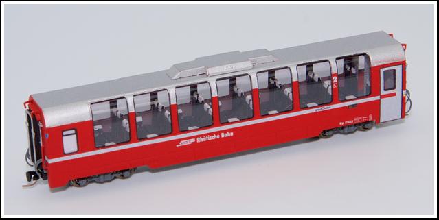Rhätische Bahn Panoramawagen Bp 2502 bis 2507 Bausatz.