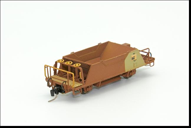 Rhätische Bahn Schotterwagen  Fd 8657/Xc 9417, Fd 8660/Xc 9420 bis Fd 8665/Xc 9425 Bausatz.