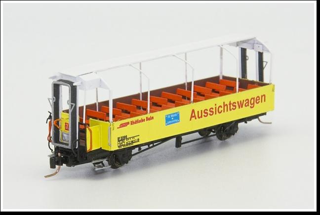 Rhätische Bahn Aussichtswagen B² 2096, B² 2097, B² 2099 und B² 2102 Bausatz.
