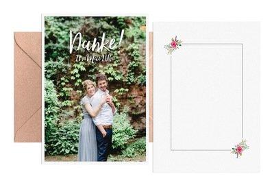 """Dankeskarte """"Flowers & Stripes"""""""