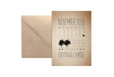 """Save-the-Date-Karte """"Rustic Woodland"""""""