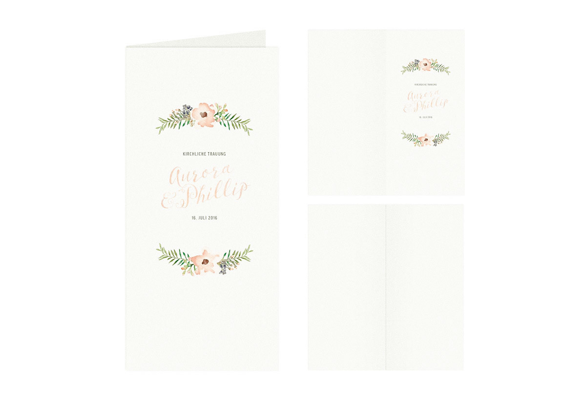 "Kirchenbuch-Umschlag ""Painted Flowers"""