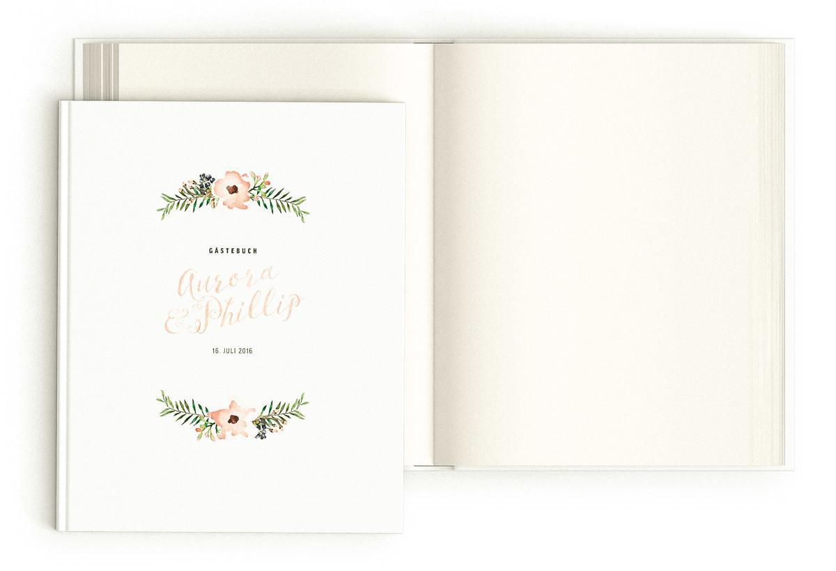 "Gästebuch ""Painted Flowers"""
