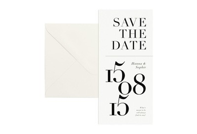 "Save-the-Date-Karte ""Type & Paper"""