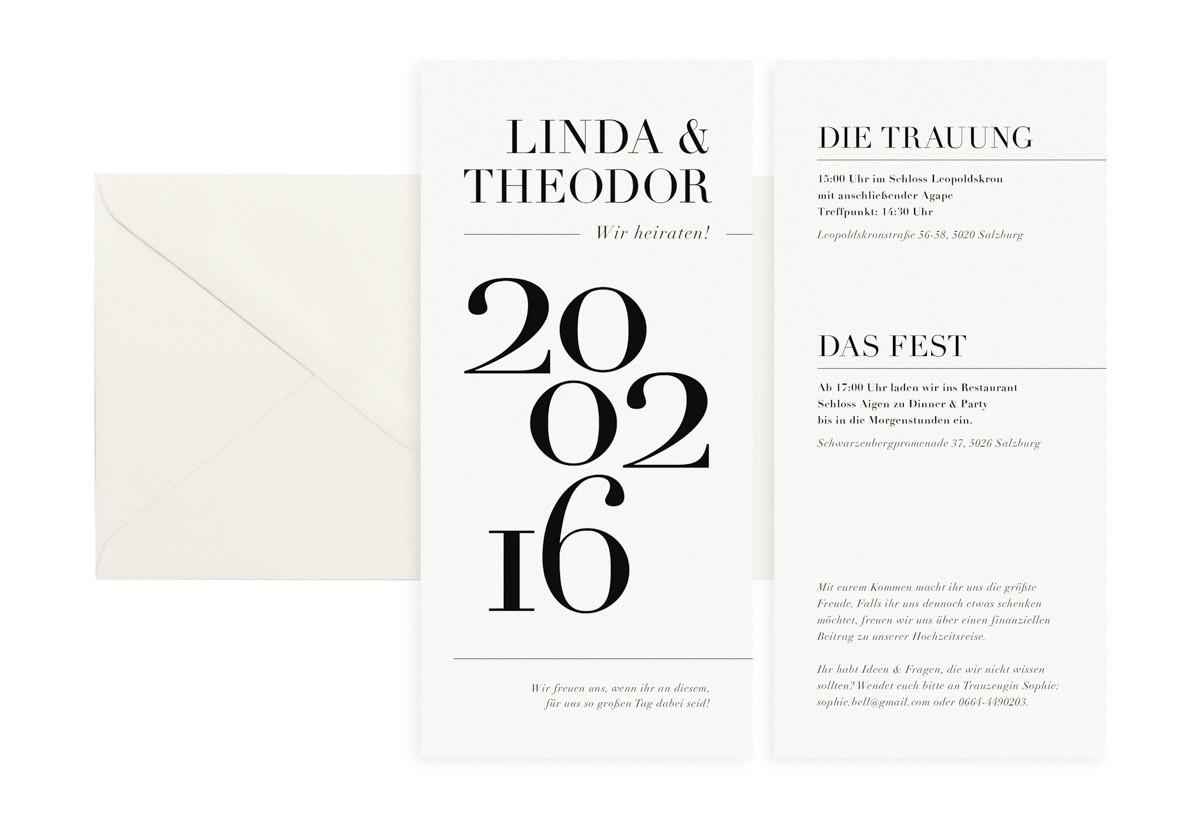 """Hochzeitseinladung """"Type & Paper"""""""