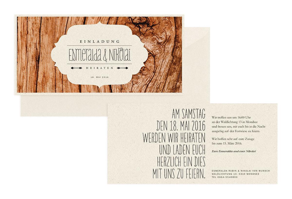 """Hochzeitseinladung """"Dreamy Woodland"""""""