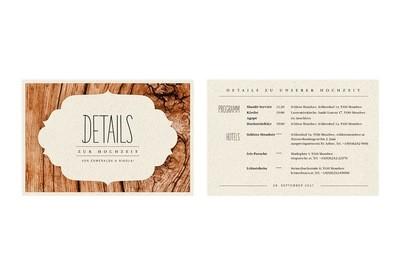 "Informations-Karte ""Dreamy Woodland"""