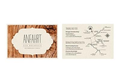 """Anfahrtsplan-Karte """"Dreamy Woodland"""""""