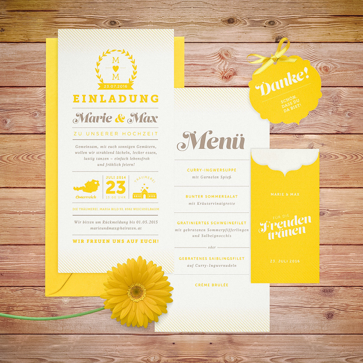 """Muster-Set """"Sunny Side"""""""