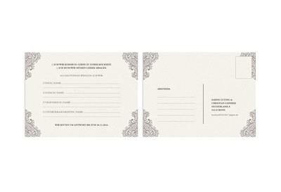 Antwort-Hochzeitskarte