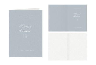 """Kirchenbuch-Umschlag """"Baby Blue"""""""