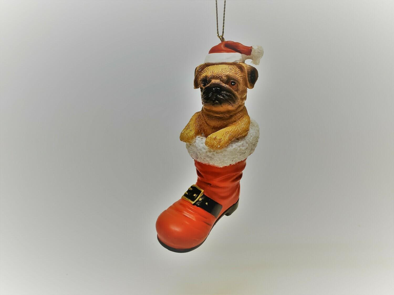 Tan Pug in a Boot