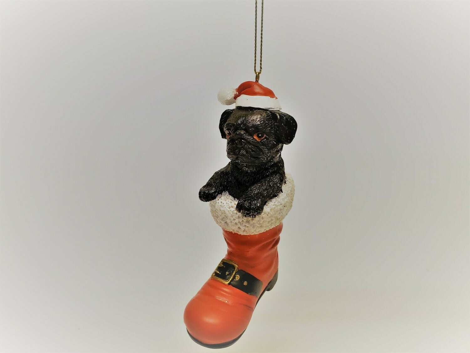 Black Pug in a Boot