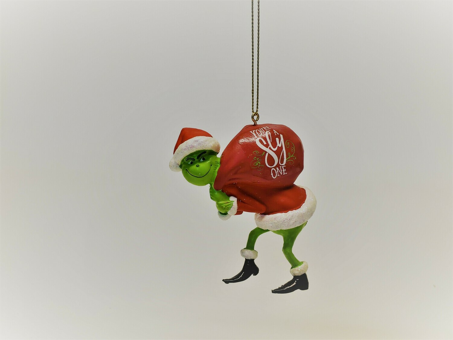 The Grinch with Santa's Sac