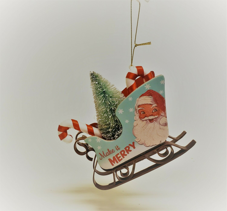 Santa's Sleight with Santa