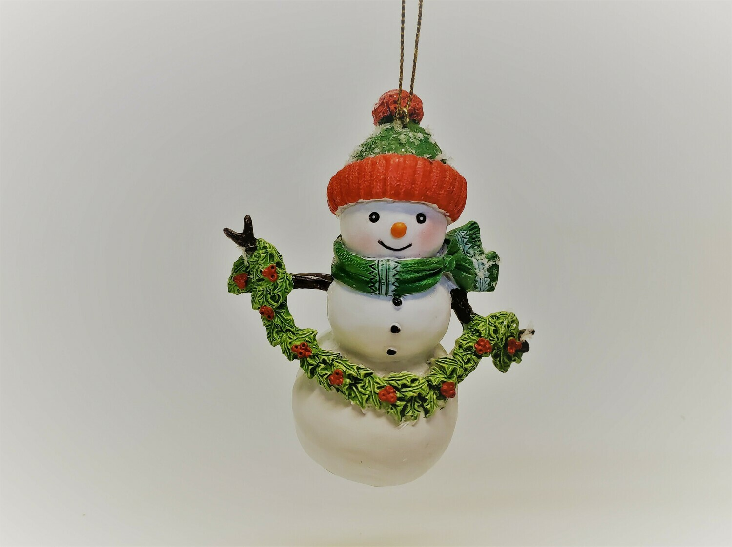 Green Bundled up Snowman