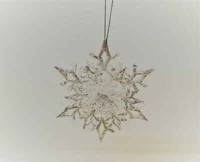 Clear Pointed Snowflake