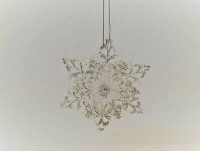 Clear Rounded Snowflake
