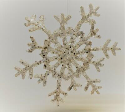 White Fabric Snowflake