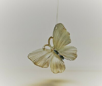 Gold and Cream Butterfly