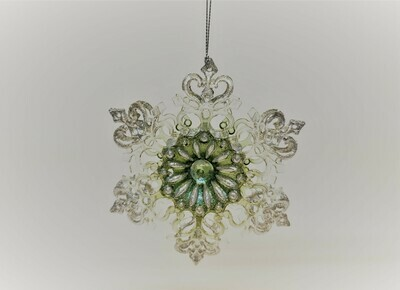 Green and Silver Snowflake