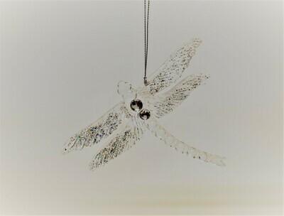 Clear Glitter Dragonfly
