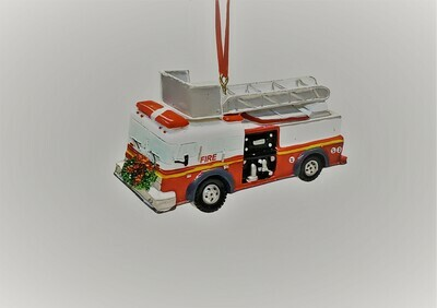 Firetruck with a Wreath