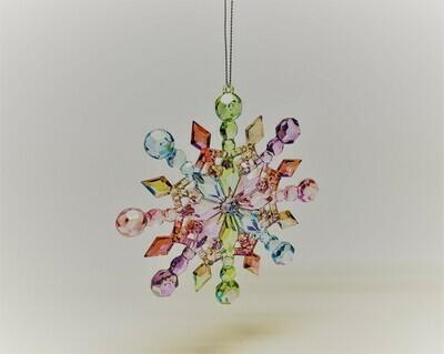 Multicolored Iridescent Snowflake