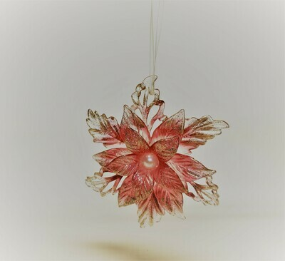 Pink Petal Snowflake