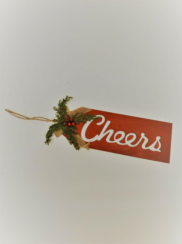 """""""Cheers"""" Door Hanger"""