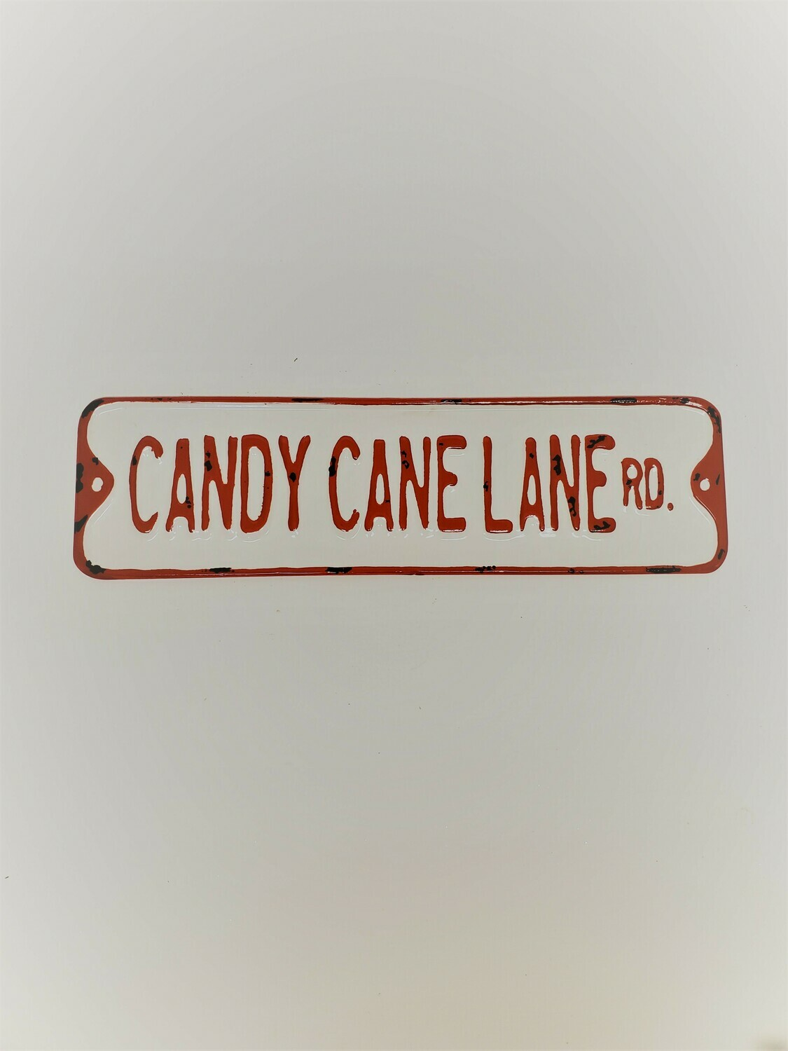 Candy Cane Lane Rd. Sign