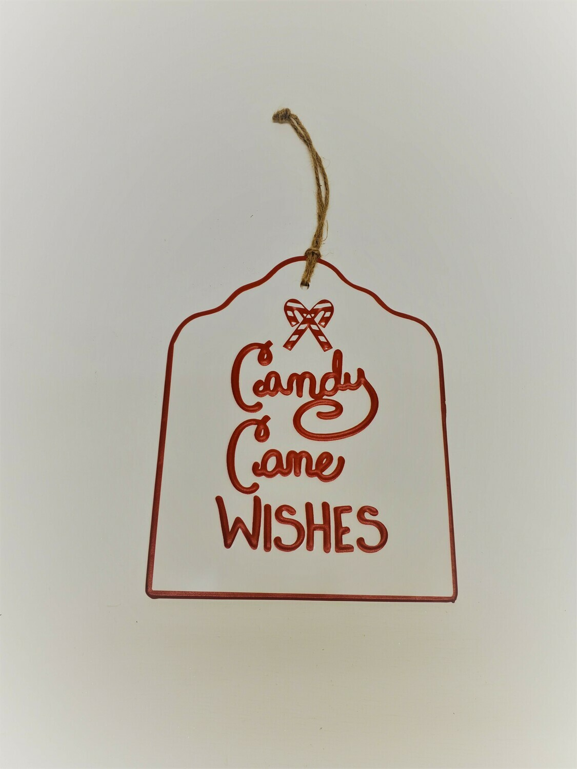 Candy Cane Wishes Sign