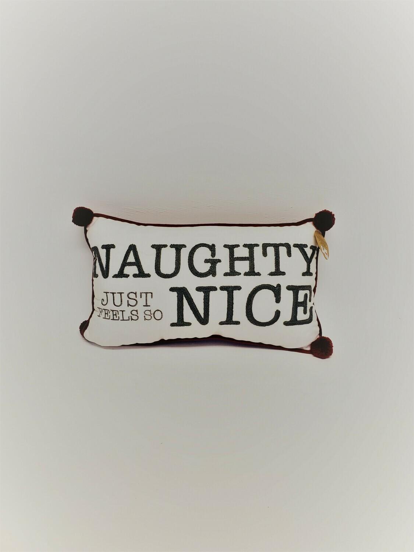 Naughty and Nice Pillow