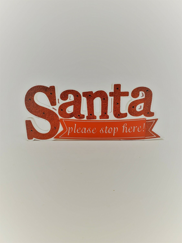 Standing Santa Sign
