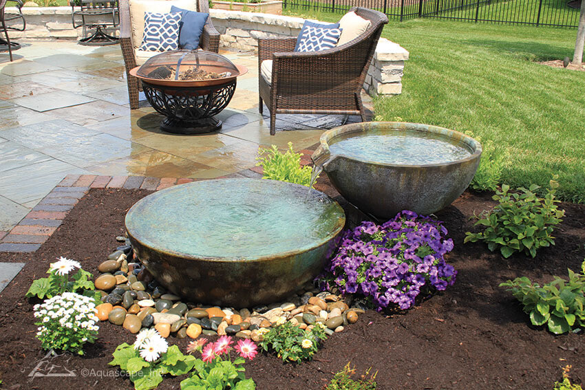 Spill Away Basin And Bowl Landscape Fountain Kit