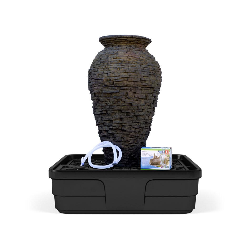 Stacked Slate Urn Landscape Fountain Kit