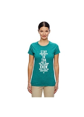 """stay in THA know"" Ladies' Inspirational Quote Tee"